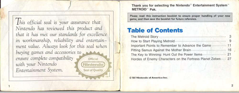 commentary on the metroid instruction manual rh gravelstudios com Guess Who Coming to Dinner Remake Guess Who Printables